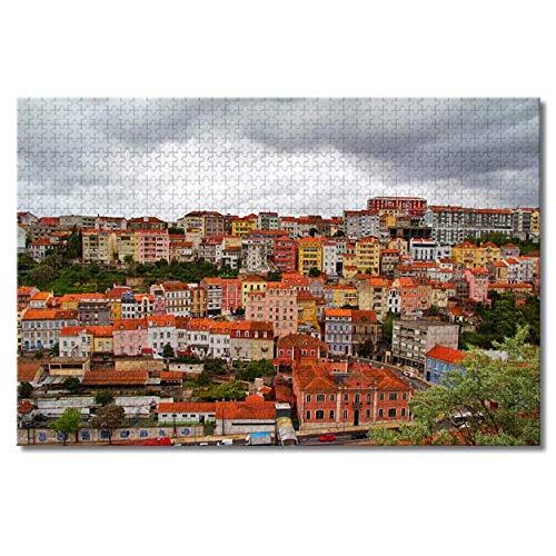 Nicoole Portugal Coimbra Rompecabezas para adultos Niños 1000 piezas Juego de rompecabezas de madera para regalos Decoración del hogar Recuerdos especiales de viaje