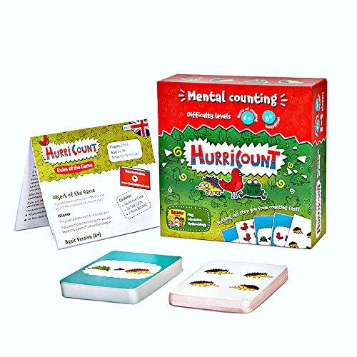 Divertidos juegos de mesa de matemáticas para niños en edad preescolar: contando juegos de cartas para niños – juegos de niños a partir de 6 años - Juegos de mesa familiares - Kindergarten Math