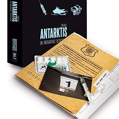 iDventure Detective Stories-Fall 2: Antarktis Fatale. [2ª edición] Juego de detectives, juego de crítica, juego Escape Room para casa