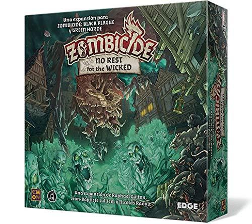 Edge Entertainment- Zombicide Black Plague: No Rest for The Wicked - Juego de Mesa en Castellano (EECMZB04)