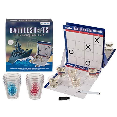 outoftheblue Barcos hundidos, juego de beber con 10 vasos de chupito, juego de fiesta