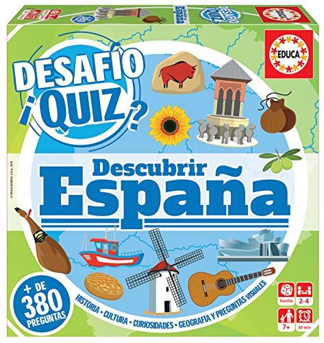 Educa- Desafio Quiz-Descubrir España Juego de Mesa, Multicolor (18217)