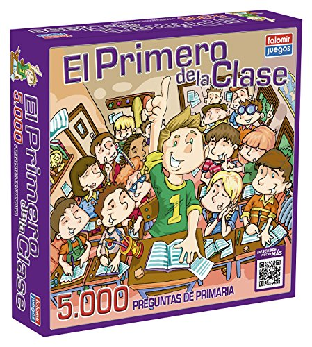 Falomir Juego de Mesa Educativo, 5000 Preguntas, multicolor, El primero de la clase 5.000 (1750)