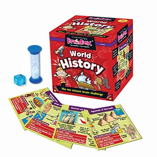 Green Board Games Brain Box - Juego de Preguntas sobre Historia Mundial (en inglés)