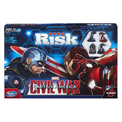 Hasbro Risk Captain America: Civil War Edition–Juego de mesa (idioma inglés)