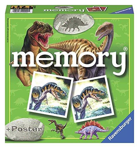 Ravensburger- Memory: Dinosaurios Juego de Mesa, Multicolor (22099)