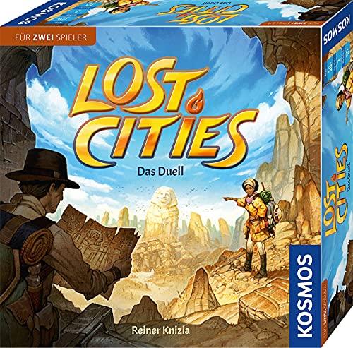 KOSMOS 694135 Lost Cities – Juego de Mesa «El Duel», emocionante Juego de Aventura para 2 Personas a Partir de 10 años, Juego Familiar, Juego para 2, Juego de Sociedad