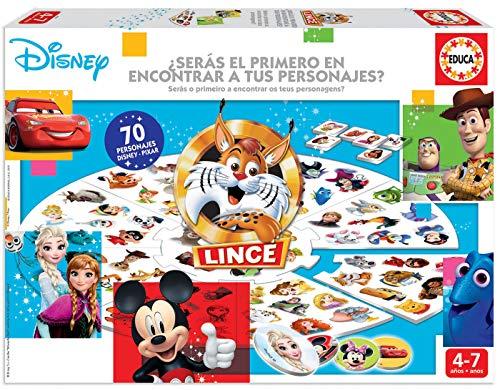 Educa - El Lince Edición Disney. Con 70 imágenes de personajes Disney. A partir de 4 años