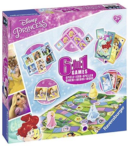 Ravensburguer-21287 Princesas Disney Set 6 Juegos en 1, Multicolor (21287 3)