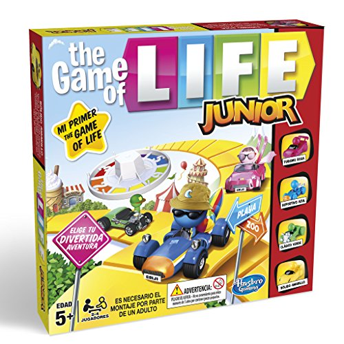 Hasbro Gaming- Game of Life Junior Gaming Clasico Juego de Mesa, Multicolor, Miscelanea (B0654SC5)